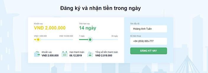 Truy cập website senmo để đăng ký vay tiền