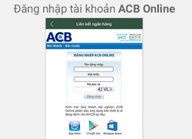 Cách xử lý khi quên mật khẩu ACB Online